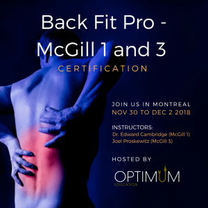 Back fit Pro - Mc Gill 1 et 3